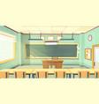 cartoon of college classroom vector image vector image