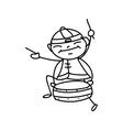 Chinese New Year cartoon character vector image vector image