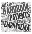chronic bronchitis and emphysema handbook text vector image vector image