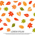 colorful fall leaves background vector image vector image
