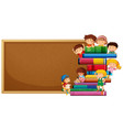 corkboard with children banner vector image vector image