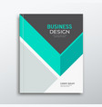 cover business book annual report green and gray vector image