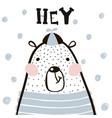 cute cartoon bear boy in scandinavian style vector image