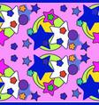 cute stars seamless pattern nursery vector image vector image