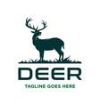 deer design on grass vector image