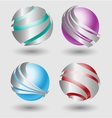 Elehant metallic balls with silver embellishment vector image