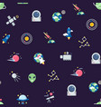 flat space icons pattern or background vector image vector image