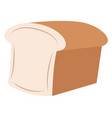 fresh bread on white background vector image vector image