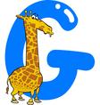 G for giraffe vector image
