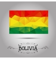 geometric polygonal Bolivia flag vector image vector image