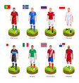 group soccer football player jersey national world vector image vector image