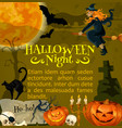 halloween poster for holiday horror night vector image vector image