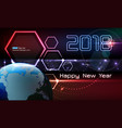 happy new year futuristic vector image vector image