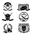Ice hockey emblem and logo set vector image vector image