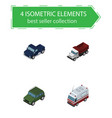 isometric car set of suv freight armored and vector image vector image