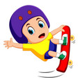 jumping skateboarder vector image