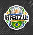 logo for brazil vector image vector image
