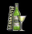 logo for vermouth vector image vector image