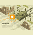 military battle isometric vector image