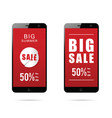 mobile phone with big sale on it vector image vector image