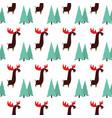 moose animal flat pattern on white vector image