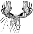 Moose head animal for t-shirt Sketch elk tattoo de vector image vector image