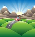 mountainview joyride vector image