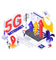 network 5g internet generation design concept vector image