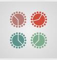 paper sticker alarm clock vector image vector image
