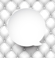 Paper white round speech bubble vector image vector image