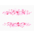 pink petals sakura or rose isolated on vector image
