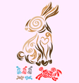 rabbit ornate vector image vector image