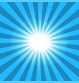 ray blue background sun vector image vector image
