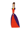 renaissance clothing woman character in vector image vector image