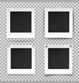 retro photography square empty frames vector image