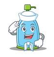 sailor liquid soap character cartoon vector image vector image