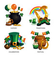 saint patricks compositions set vector image vector image