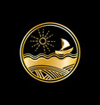 sea golden logo vector image