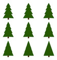 set christmas trees christmas tree vector image