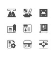 set icons of print vector image vector image