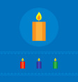 set of burning candles the concept of a holiday vector image