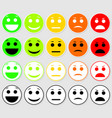 Set of emoticons emoji level rank load