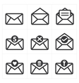 Set of icon for mail vector image