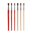 Set of paint brushes vector image vector image