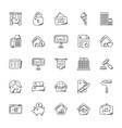 set of real estate doodle vector image