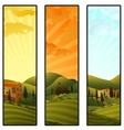 Set of Tuscany landscape banners vector image vector image