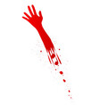 severed arm vector image vector image