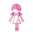 shadow pink girl cartoon vector image vector image