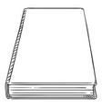 sketch - single hardcover book vector image vector image