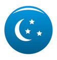 sleep icon blue vector image